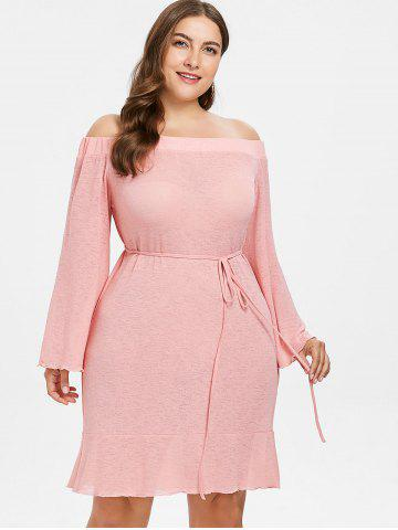 35a320dac52 Off The Shoulder Pink Dress - Free Shipping
