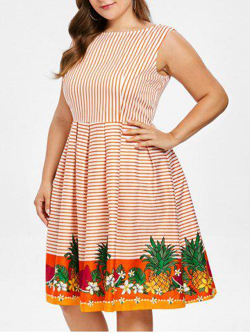 Sleeveless | Stripe | Dress | Plus | Size