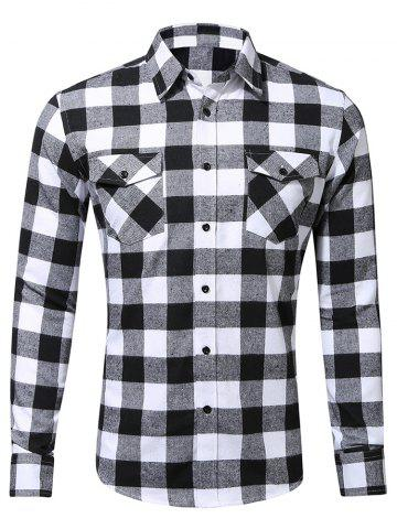 Long Sleeve Check Pattern Shirt