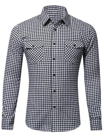 Check Pattern Chest Flap Pocket Shirt