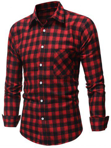Chest Patch Pocket Long Sleeve Shirt