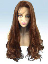 Long Side Bang Wavy Party Synthetic Lace Front Wig -