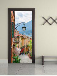Old Town Print Removable Door Stickers -