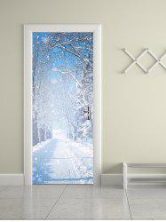 Winter Snow Print Removable Door Stickers -