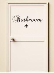 Letter Bathroom Removable Wall Stickers -