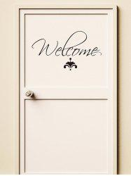 Letter Welcome Removable Wall Stickers -