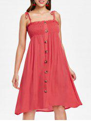 Tie Straps Button Up Sundress -