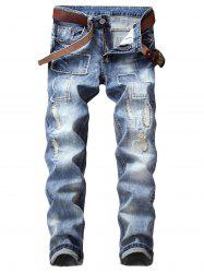 Patches Destructed Vintage Style Jeans -