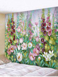 Flower And Leaves Print Wall Hanging Tapestry -