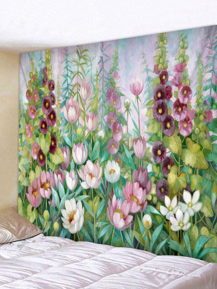 Flower And Leaves Print Wall Hanging Tapestry