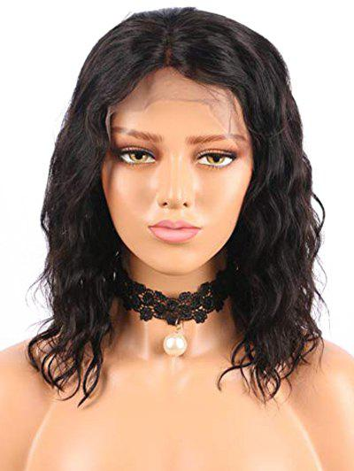 Latest Free Part Short Water Bob Wavy Lace Front Human Hair Wig
