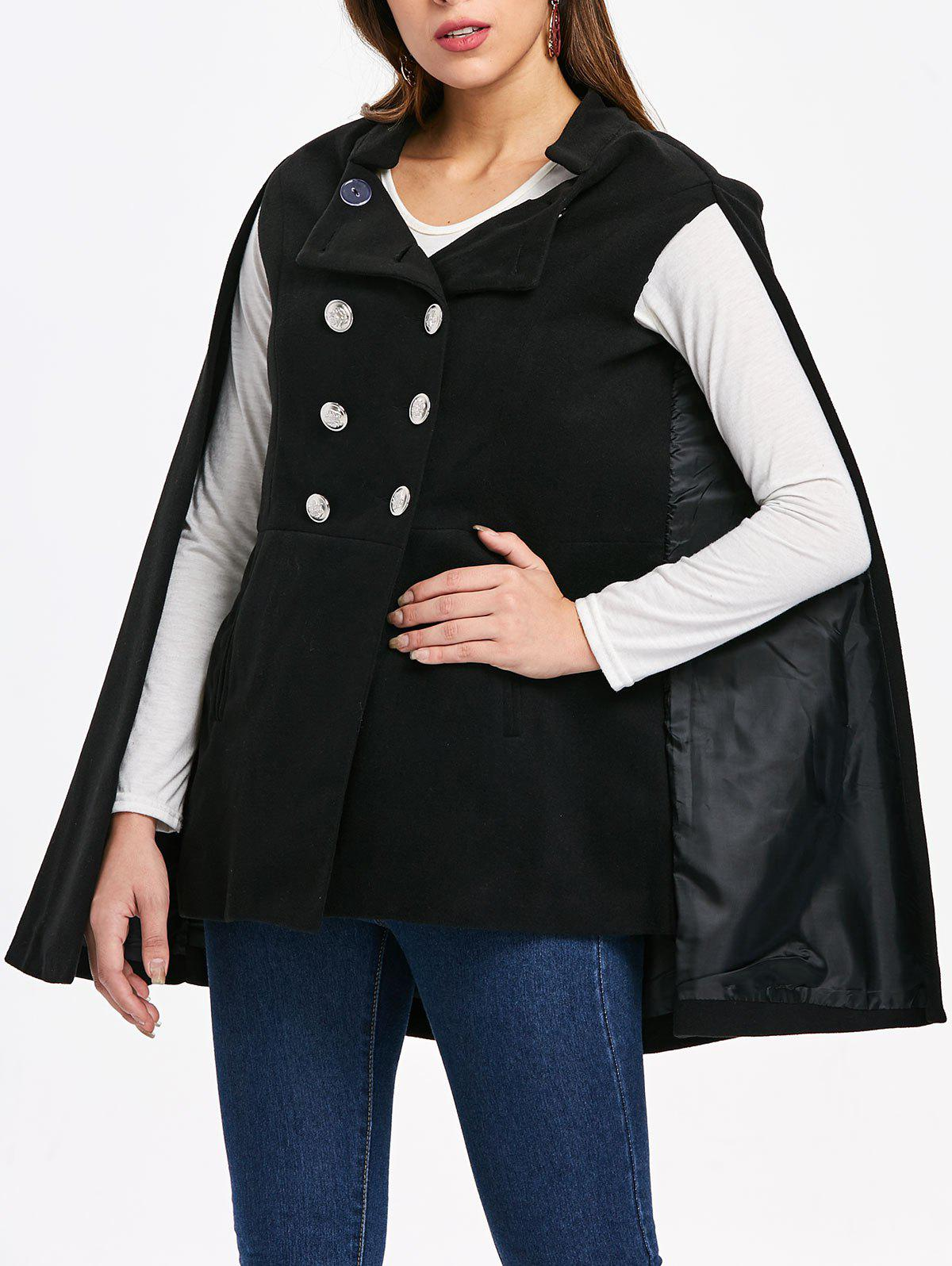 Manteau Cape à double boutonnage