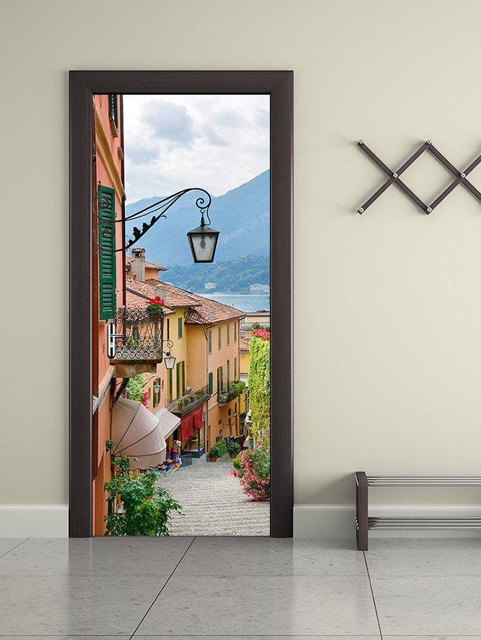 Cheap Old Town Print Removable Door Stickers