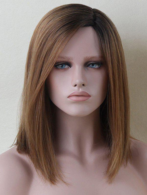 Shops Medium Side Parting Straight Colormix Human Hair Wig