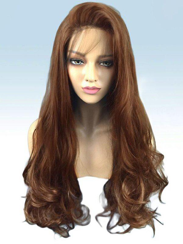 Shops Long Side Bang Wavy Party Synthetic Lace Front Wig