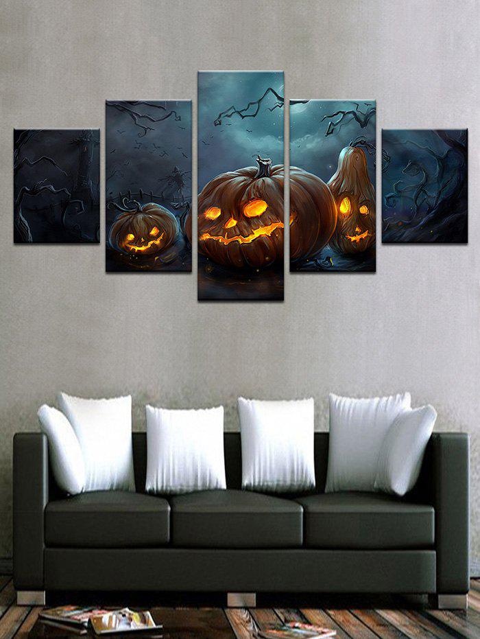 Outfit Halloween Pumpkin Prints Unframed Wall Hanging Paintings