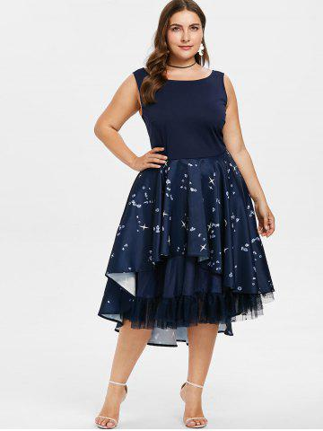 Plus Size Tea Length Dress Sleeve Lace And Evening Cheap With