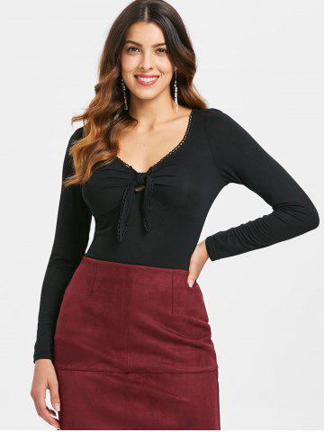 Tie Knot Bust Full Sleeve T-shirt