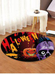 Halloween Skull Pattern Anti-skid Round Floor Rug -