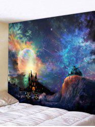 Wall Hanging Art Halloween Galaxy Print Tapestry -