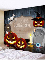 Wall Hanging Art Halloween Pumpkin Print Tapestry -