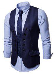Faux Flap Pocket Slim Vest -