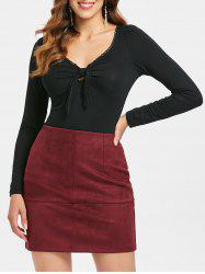 Tie Knot Bust Full Sleeve T-shirt -