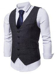 False Pocket Business Dress Waistcoat -