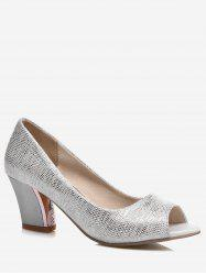 Plus Size Shimmer High Heel Pumps -