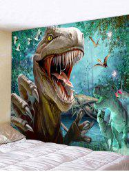 Wall Hanging Art Forest Dinosaur Print Tapestry -