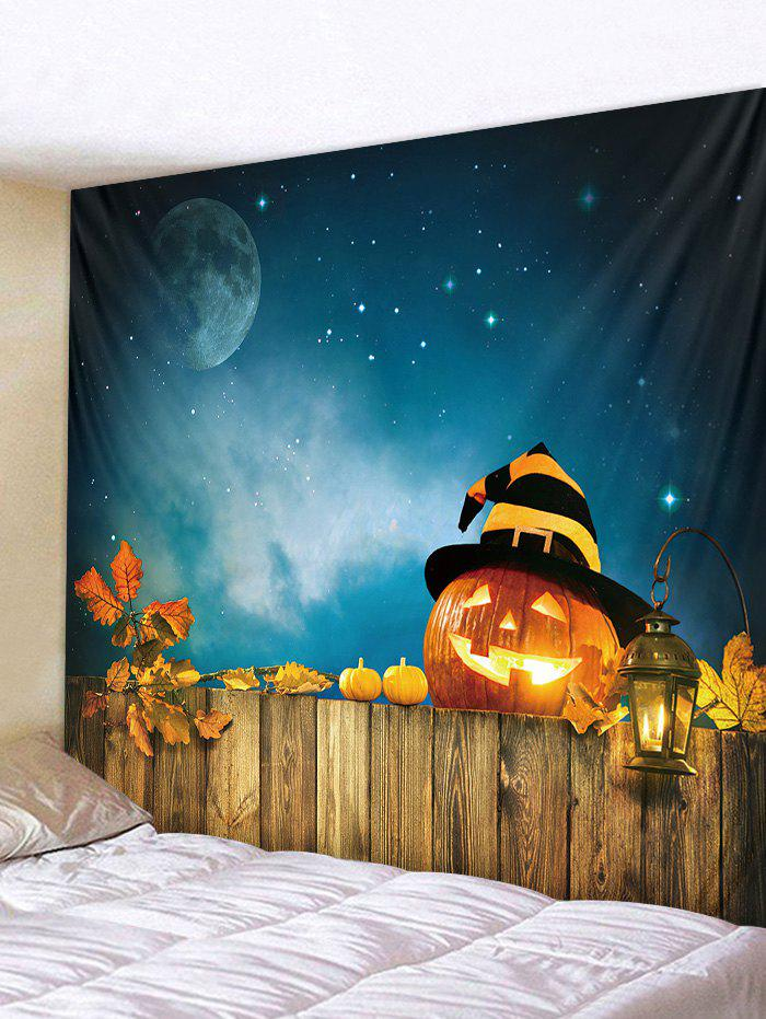 Online Halloween Pumpkin Moon Print Wall Hanging Tapestry