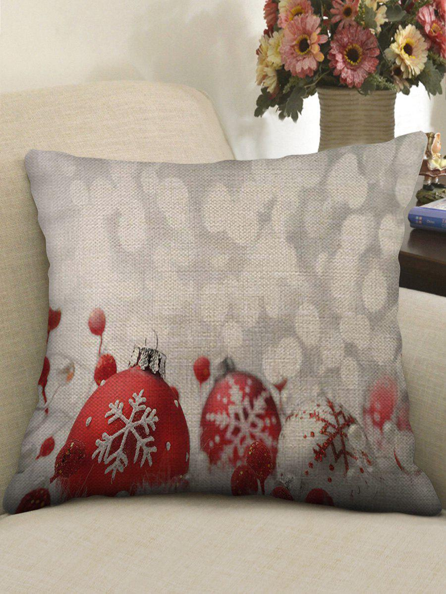 Fancy Snowflake Ball Print Sofa Linen Pillowcase