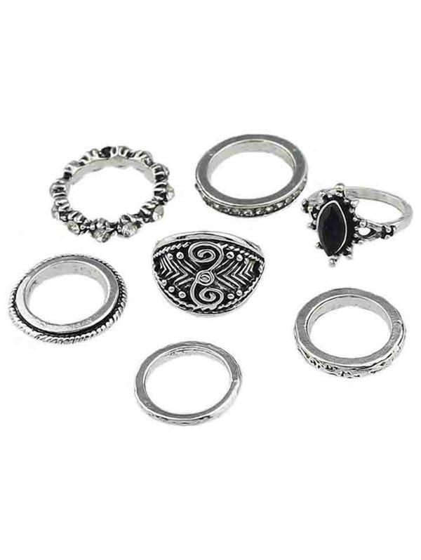 Outfits Rhinestone Finger Rings Set