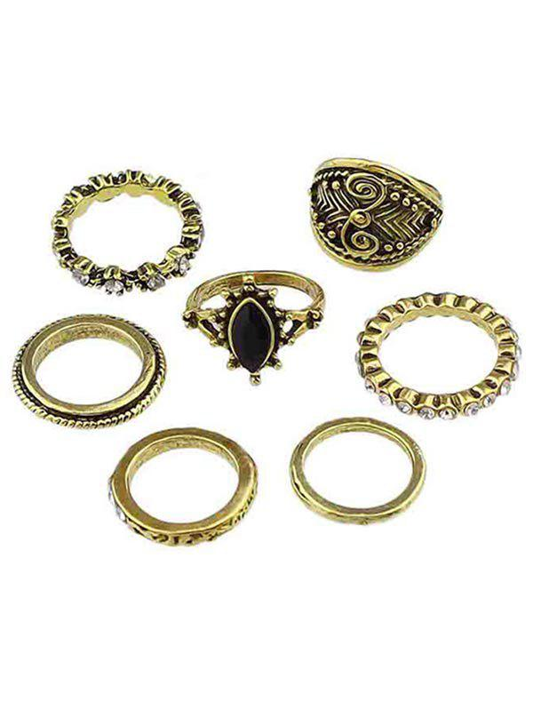 Cheap Rhinestone Finger Rings Set