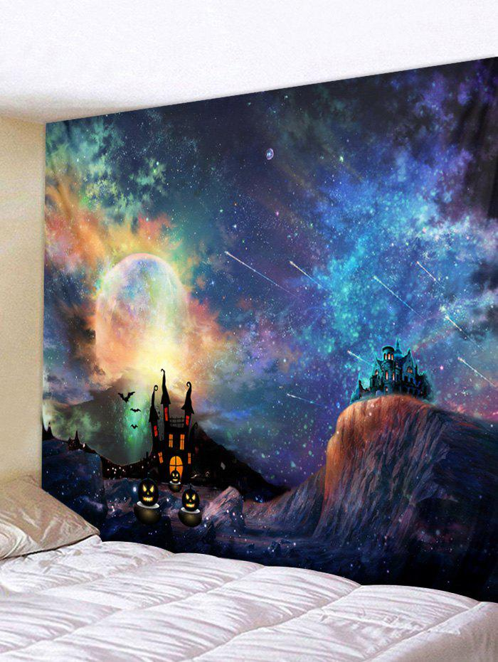 Fashion Wall Hanging Art Halloween Galaxy Print Tapestry