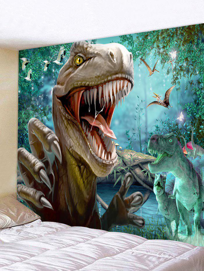 Fancy Wall Hanging Art Forest Dinosaur Print Tapestry