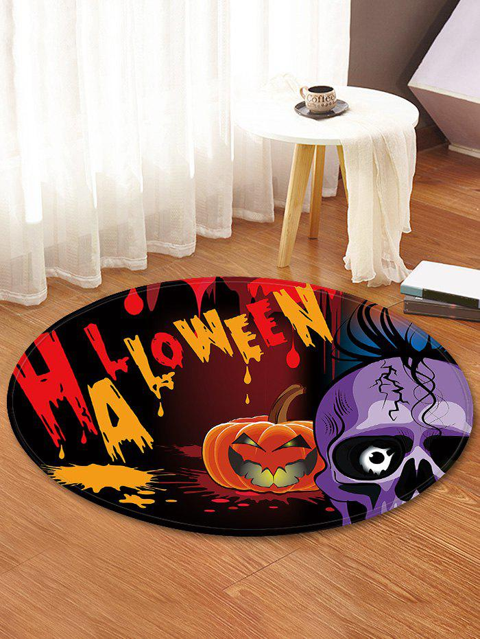 Outfit Halloween Skull Pattern Anti-skid Round Floor Rug