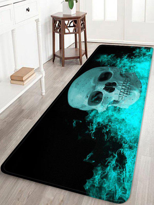 Skull Fire Pattern Water Absorption Area Rug thumbnail