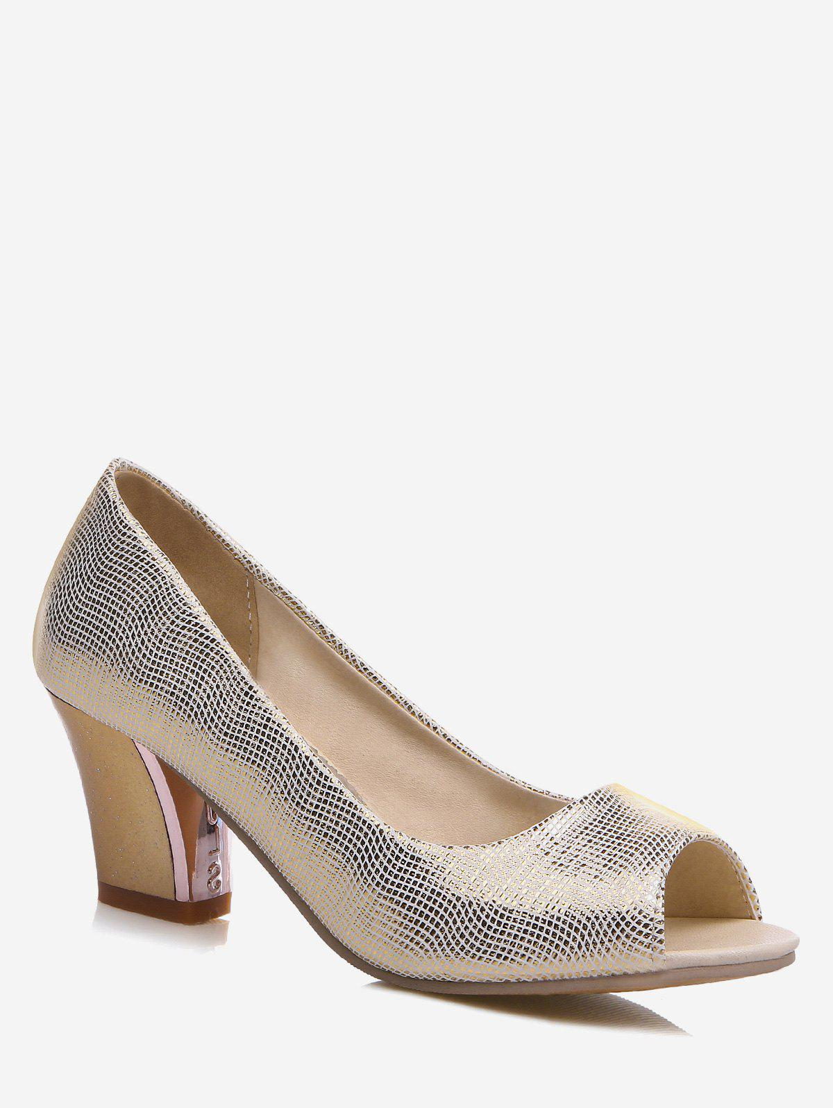 Discount Plus Size Shimmer High Heel Pumps