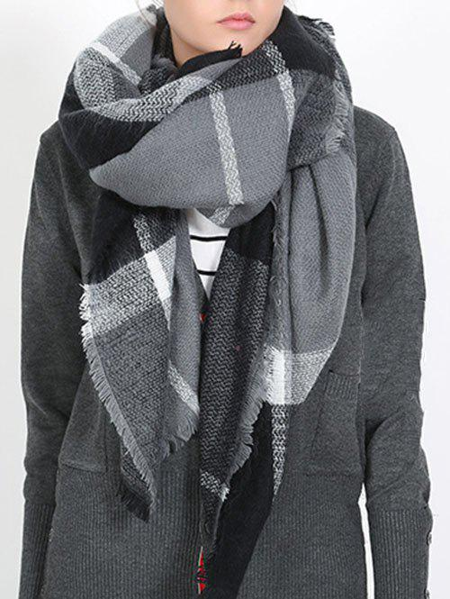 Chic British Style Plaid Pattern Soft Shawl Scarf