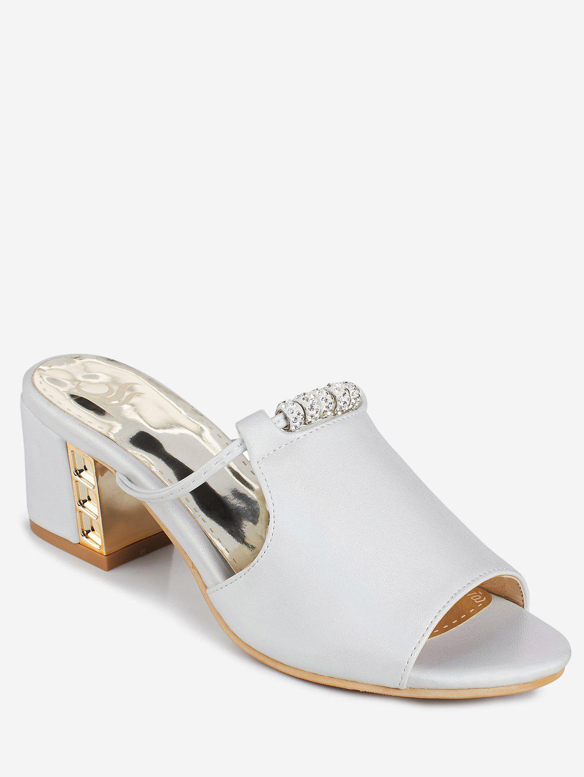 Latest Plus Size Chunky Heel Chic Slide Sandals