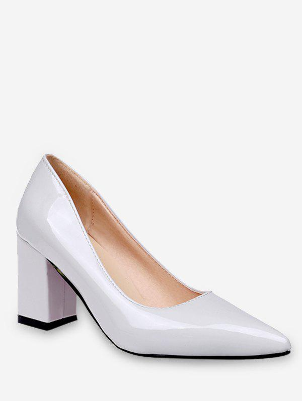 Shop Plus Size Chunky Heel Pointed Toe Pumps