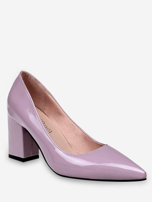 Buy Plus Size Chunky Heel Pointed Toe Pumps
