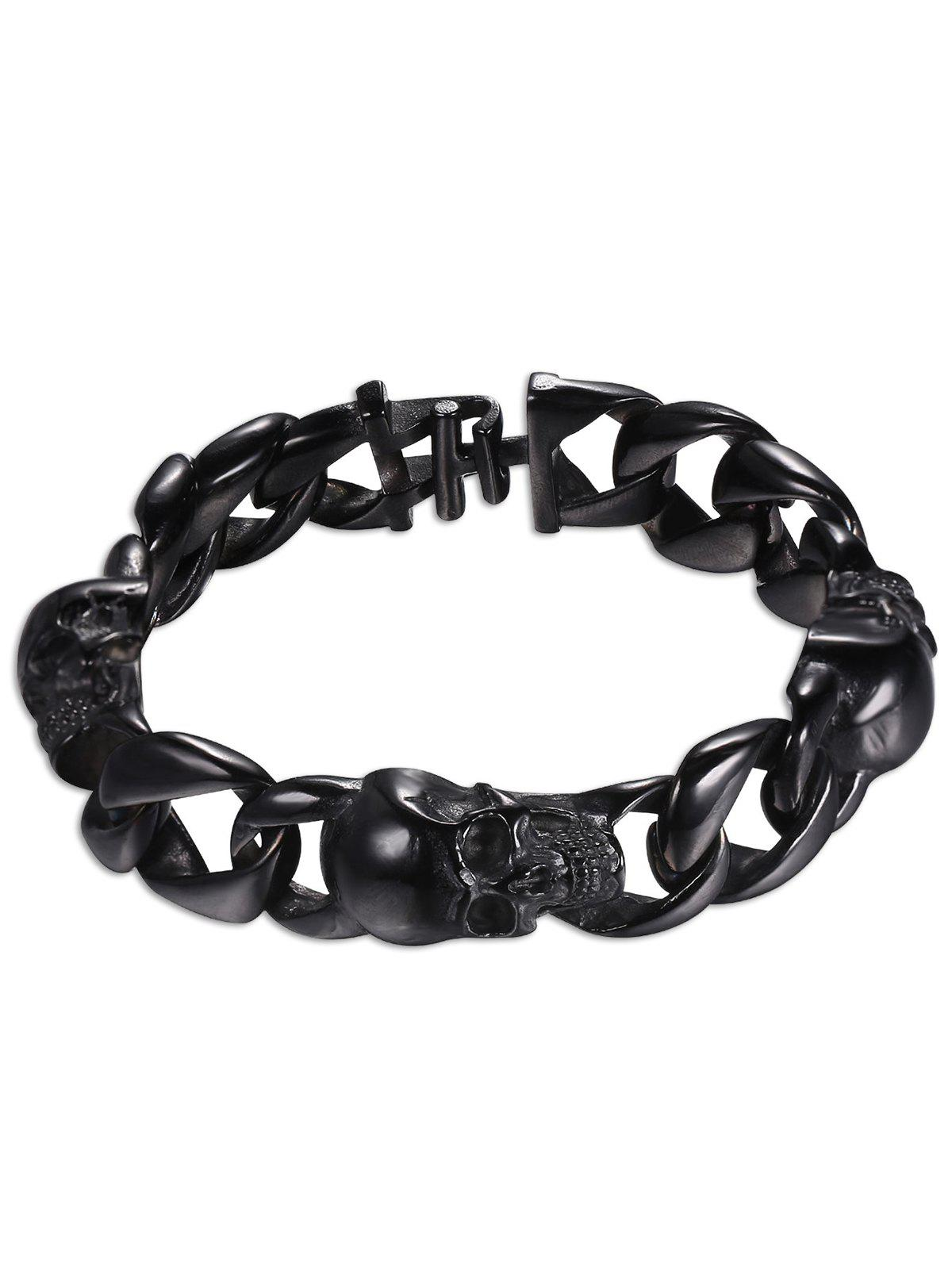 Buy Vintage Carving Skull Alloy Charm Bracelet