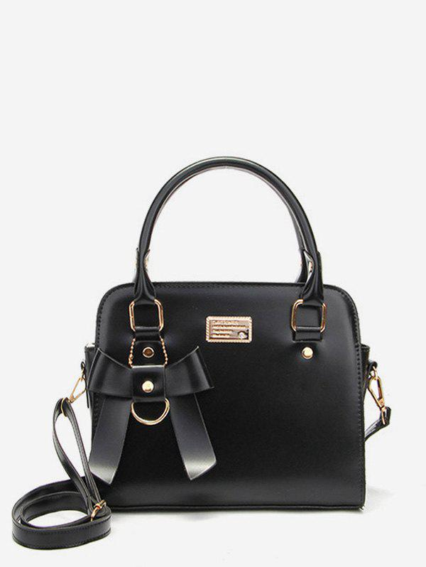 Outfits Bow Casual PU Leather Handbag with Strap