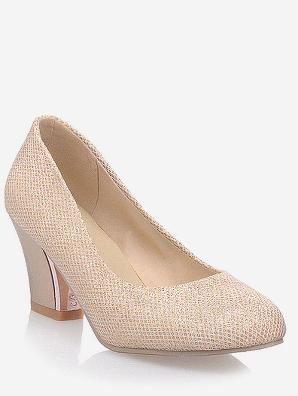 Affordable Plus Size Chic Mid Heel Party Pumps