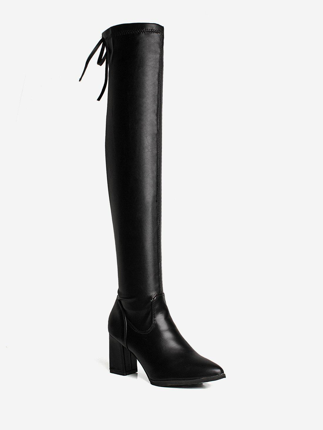 Trendy Fashion Pointed Toe Over The Knee Boots