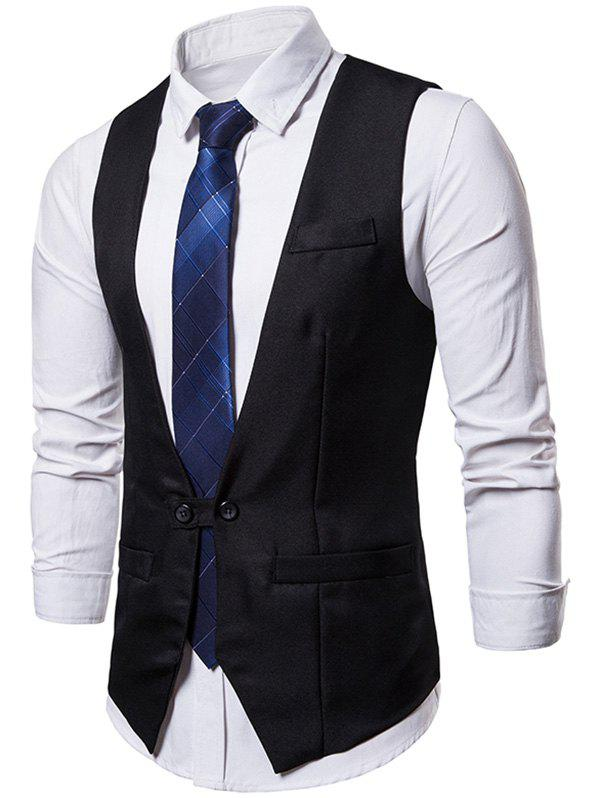 Unique V Neck Suit Dress Vest