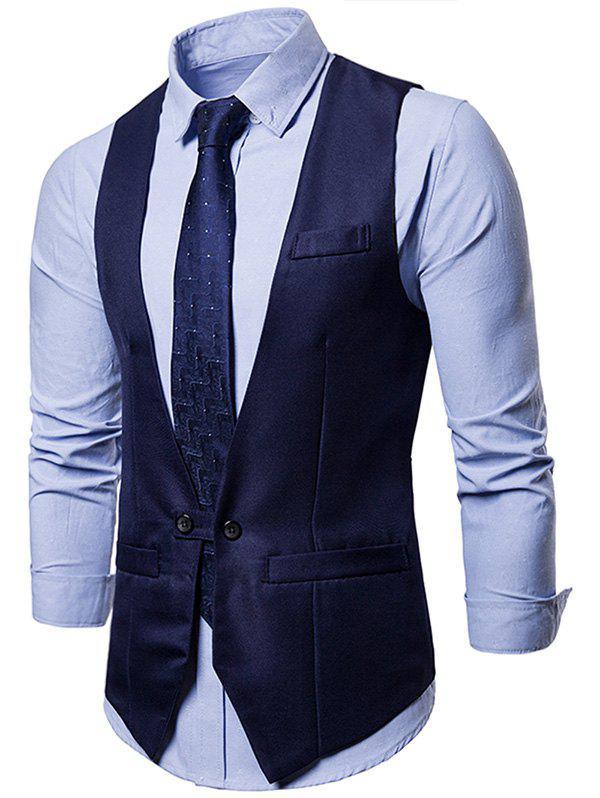 Online V Neck Suit Dress Vest