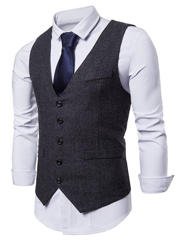 Discount False Pocket Business Dress Waistcoat